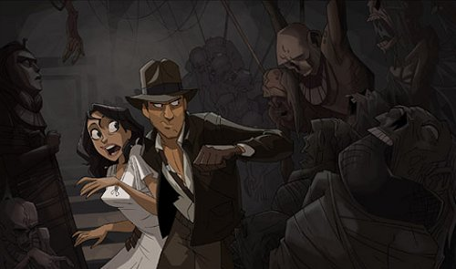 Raiders of the Lost Ark - cartoon print