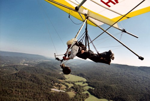 Hang gliding over Tennessee